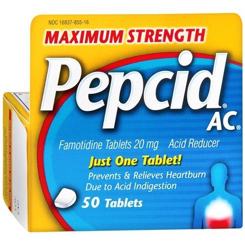 Pepcid AC Acid Reducer, Maximum Strength, Tablets 50 ea