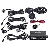 KKmoon Car Parking Reverse Backup Radar Sound Alert + 4 Sensors (Black); Parking Reversing Sensor Kit System