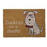 TIENDA EURASIA Felpudo Perro Cuidado con El Dueño diseño...