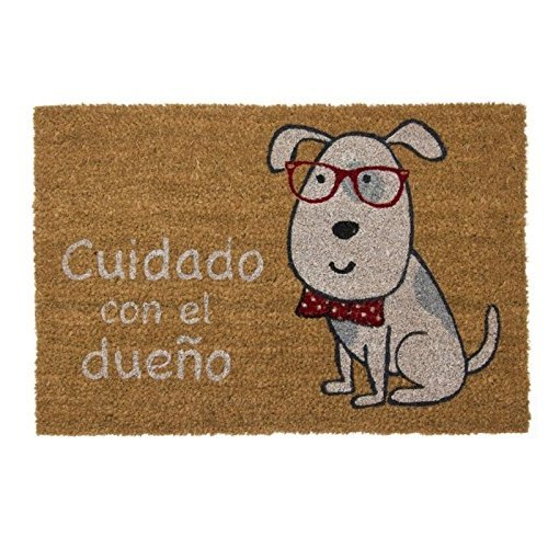 TIENDA EURASIA Felpudo Perro Cuidado con El Dueño diseño Original