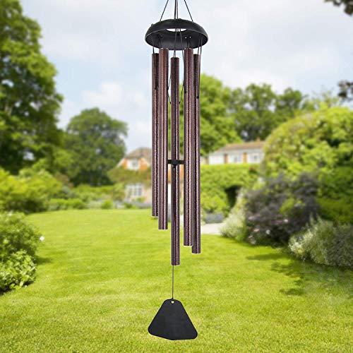 Sureh Windspiel für den Außenbereich, groß, tiefer Ton, 91,4 cm lang, Garde-Windspiel mit 5 Metallröhren