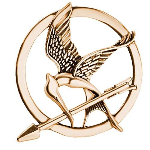 LAVALINK Los Juegos del Hambre Broche Aves Flecha Logotipo Distintivo De La Joyería De La Vendimia De La Manera De Animales De Caza De La Película Hombres Mujeres Niños