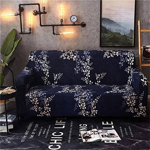 WLVG Funda de sofá Estampada para sofá de 1, 2, 3 y 4 plazas - Protector de sofá con Base elástica y Espuma Antideslizante - Funda de sofá Duradera y fácil de Instalar (BE-18, 1 plazas: 90-140 cm
