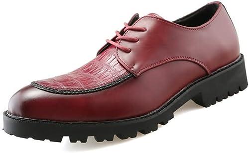 XIANGBAO-Personality La La La Mode Masculine de sécurité au Travail Bout Rond de Couleur Unie Chaussures décontractées (Couleur   Rouge, Taille   38 EU) 2e3