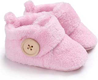 Newborn Baby Girls Boys Slippers Warm Fur Infant Toddler Boots Slip On Booties Shoes