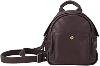 Daypacks Mini Leather Backpack for Women, Genuine Leather Top Handle Bags Shoulder Bag School Backpack Travel Daypacks Large Backpack for Girls (Color : Brown)
