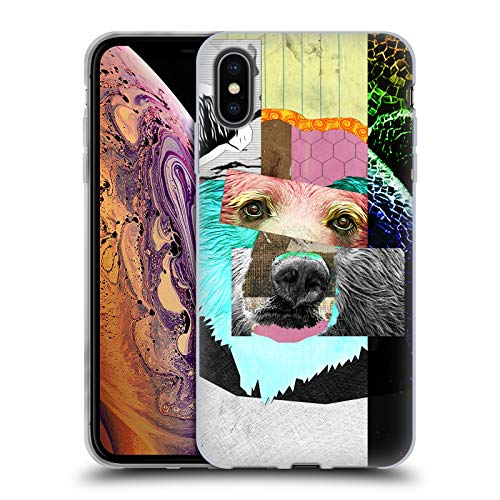 Head Case Designs Oficial Michel Keck Oso Collage Animal Carcasa de Gel de Silicona Compatible con Apple iPhone XS MAX