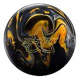Ebonite Destiny Hybrid Bowling Ball Black/Gold/Silver, 16