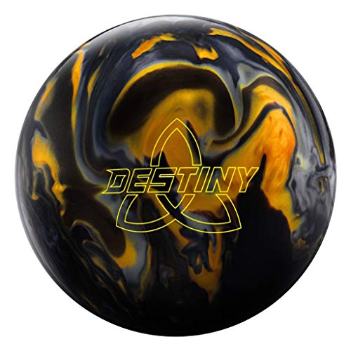 Ebonite Destiny Hybrid Bowling Ball Black/Gold/Silver, 16