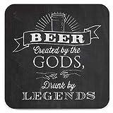 Brainbox Candy – Divertida cerveza creada por dioses posavasos – pequeñas ideas de regalo para él ella – cumpleaños de amigos, regalo de inauguración de la casa, regalo nuevo para el hogar, regalos divertidos para mujeres y hombres