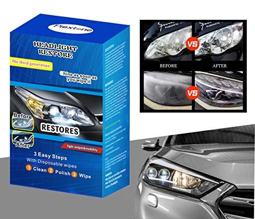 Plextone Kit de restauration de phare facile à restaurer les phares et feux arrière ternes décolorés et décolorés V001 (V001B)