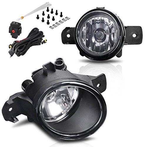 AUTOSAVER88 Fog Lights Compatible with 04-18 Nissan Sentra /11-14 Nissan Maxima/07-up Altima Sedan/ 14-16 Rogue/ 08-10 Infiniti M35/ M45/ 10-11 G37 (w/Wiring Kit)