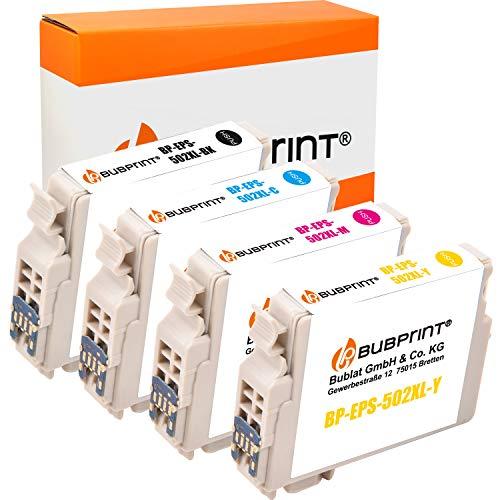 Bubprint Kompatibel Druckerpatronen als Ersatz für Epson 502 XL 502XL für Expression Home XP-5100 XP-5105 XP-5115 Workforce WF-2860DWF WF-2865DW Multipack 4er-Pack