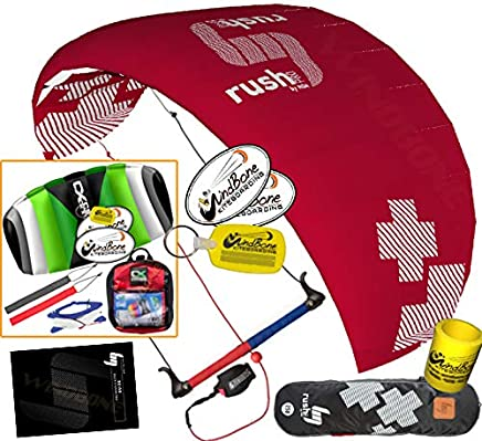 HQ HQ4 Rush Pro 250 Kiteboarding Trainer Kite CXS Bundle (5 Items) Includes 2ND