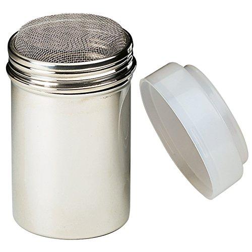 KAISER Puderzuckerstreuer mit Frischhaltedeckel Inspiration Sweet & Style feinstrukturiertes Sieb Premium-Qualität aus Edelstahl Frischhaltedeckel