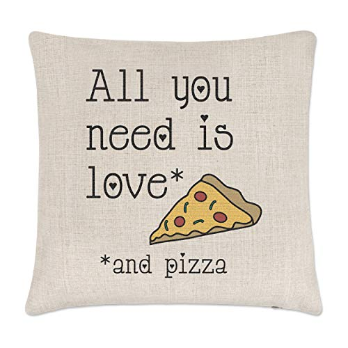 Gift Base All You Need Is Love et Pizza Lin Housse de Coussin