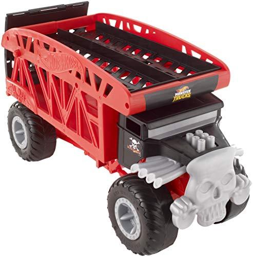 Hot Wheels FYK13 - Monster Truck Transporter mit Platz für 12 Spielzeugautos, Spielzeug ab 3 Jahren