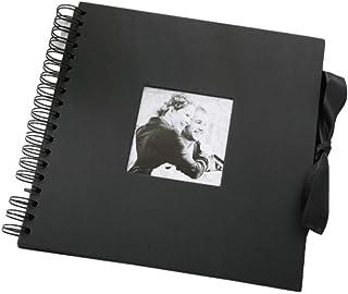 [アチスメル] 手作りアルバム アルバム 手作り 台紙 黒 スクラップブック 正方形 フォトアルバム 黒台紙 リング アルバム台紙 クラフト