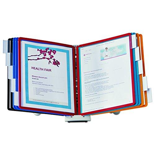 Durable Sherpa 554100 Wand-Displaysystem, 10-teilig, verschiedene Farben Schreibtisch-System 10-Panel Assorted sortiert
