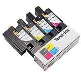 Coloner(TM) Premium Compatible Toner Cartridge for Dell E525W Color Laser Wireless Printer Set