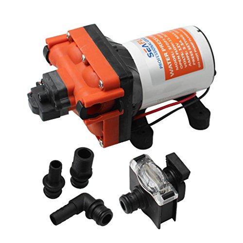 para SEAFLO Bomba de Agua de Diafragma para Barco de 12 Voltios Y 3,0 GPM SFDP1-030-055-43