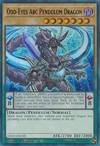 yu-gi-oh Odd-Eyes Arc Pendulum Dragon - LEDD-ENC00 - Ultra Rare - 1st Edition - Legendary Dragon Decks (1st Edition)