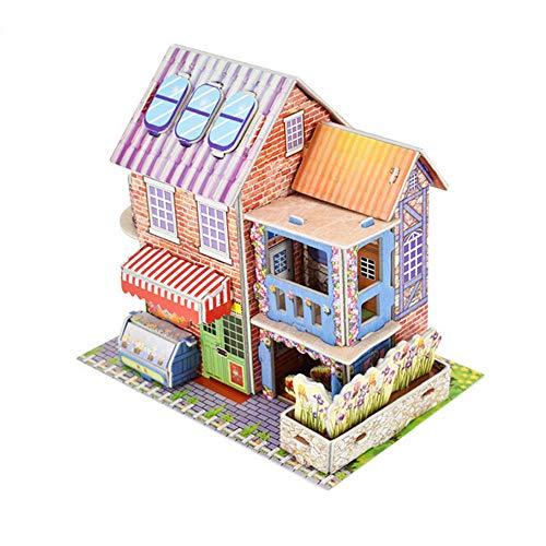 Fine Romance 3D DIY Puzzle Castle Model Cartoon House Dollhouse for Girls Doll House Building Kit...