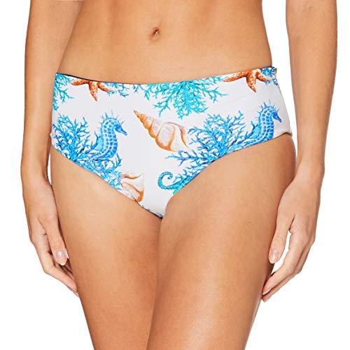LOVABLE Undersea Parte Inferiore del Bikini, Stampa Marina e Blu, L Donna