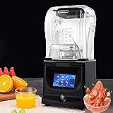 Máquina para batidos de 1800 W, pantalla táctil, batidora para batidos y batidos, para batidos, hielo, frutas y verduras con revestimiento acústico de bajo ruido (22,5 x 22,5 x 49 cm)