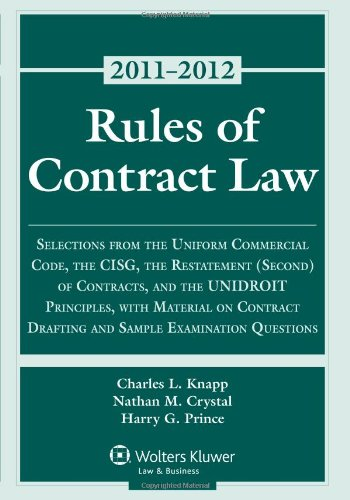 Rules of Contract Law 2011 Statutory Supplement
