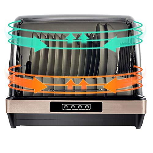 Gyz Tischgeschirrspüler, UV-Sterilisation Haushalt Luxuriöses Touchpanel, Edelstahl, Eco-Modus, eine Stunde, Desinfektionsglas und 42 l Fassungsvermögen