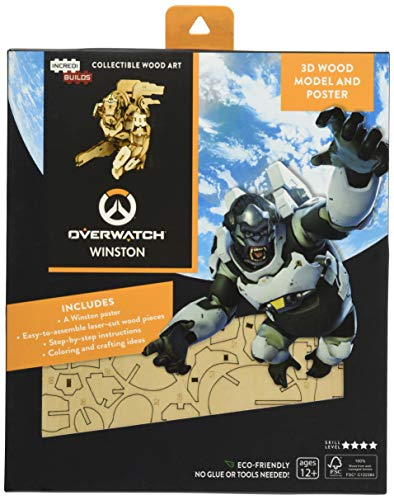 IncrediBuilds: Overwatch: Winston 3D Wood Model and Poster