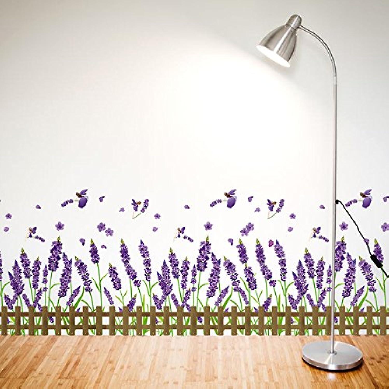 Znzbzt Wall Sticker Art self Adhesive Waterproof skirting The Corner Wall Decoration Purple Lavender
