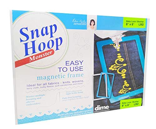 "Dime Snap Hoop Monster 8""x8"" LM2 for Babylock and Brother"