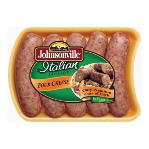 Johnsonville Italian Four Cheese Sausage Link, 19 Ounce -- 12 per case.