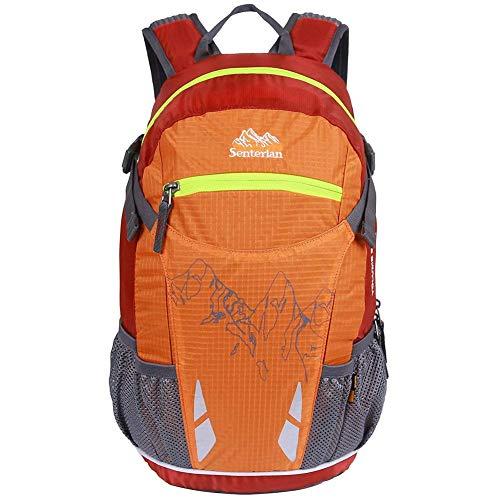 EGOGO 20L Leichtes Wandern Rucksack Fahrrad Rucksack Daypack Rucksack mit Regen Abdeckung S2321 (Orange)