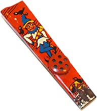 Vintage Tin Scarecrow & Crows Lithographed Halloween Toy Kazoo Noisemaker