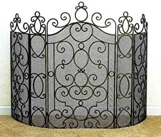 KensingtonRow Home Collection Fireplace Screens - Andalusia Fireplace Screen - Antique Brass Finish