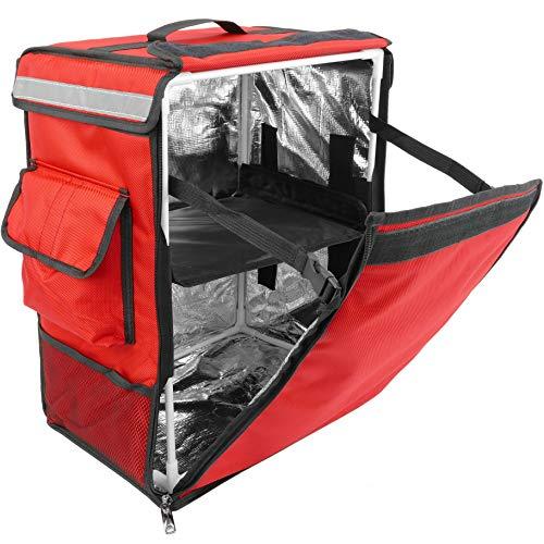 Koeltas CityBAG voor levering van gerechten aan motorfiets en fiets rood (CB021)