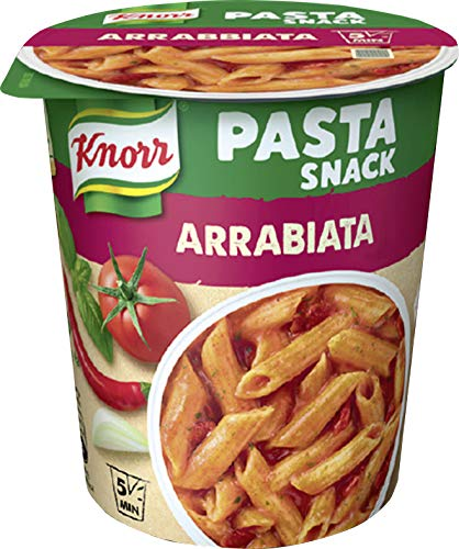 Knorr Pasta Snack Arrabiata Becher, 4er Pack (4 x 68 g)
