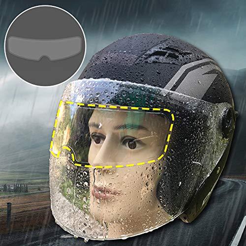 SyeRum Motorrad-Helm-Linse,Anti-Beschlag-Folie,Aufkleber Helmvisier für Motorrad,Motorradhelm Zubehör für vollen Helm, halben Helm und offenen Helm