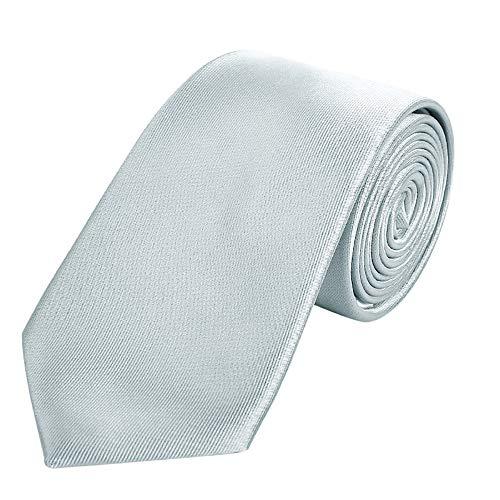 DonDon hombres corbata 7 cm business professional classica hecho a mano gris para la oficina o eventos festivos