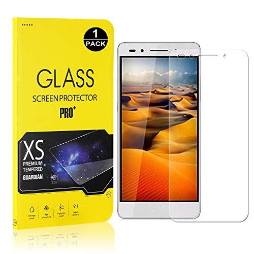 Bear Village® Verre Trempé pour Huawei Honor 7, Film Protection Écran Vitre HD, Dureté 9H, 3D-Touch Protection en Verre Trempé Écran pour Huawei Honor 7, 1 Pièces
