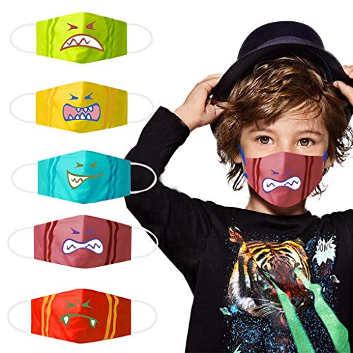 New HheJIshirc Cute Expression Face Bandanas, Reusable and Breathable, Anti-dust Anti-Pollen Bandana...