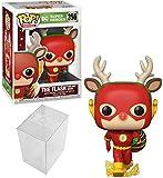Funko Pop DC Heroes: DC Holiday - Rudolph Flash Holiday Dash Christmas Bundle con 1 PopShield Pop Box Protector