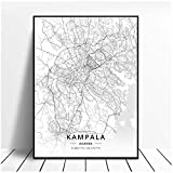NRRTBWDHL Schwarz und Weiß Kampala Uganda Breite Länge