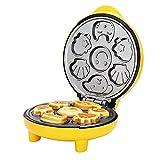 Máquina para Hacer Mini Tartas,Máquina de Hacer Magdalenas Muffins Cupcakes,Revestimiento Antiadherente,1000W,Amarillo