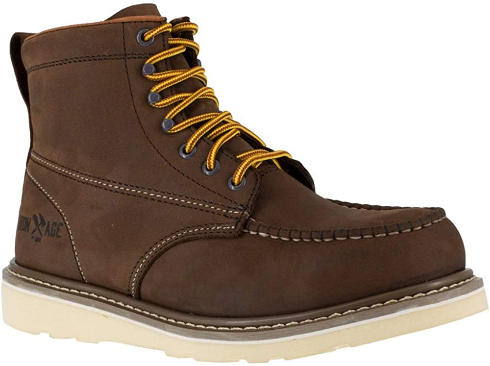 Iron Age Mens Reinforcer 6 Inch Electrical Steel Toe Work Work Safety Shoes Casual - Brown