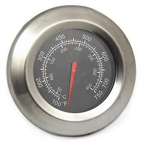 "3"" Barbecue Grill Temperature Gauge Thermometer Replacement for Master Forge Gril BG179A, MFA350CNP, MFA350BNP, Gas Grill Heat Indicator for BHG Grill, Uniflame, Dyna-glo, Stok, Backyard Grill Grills"