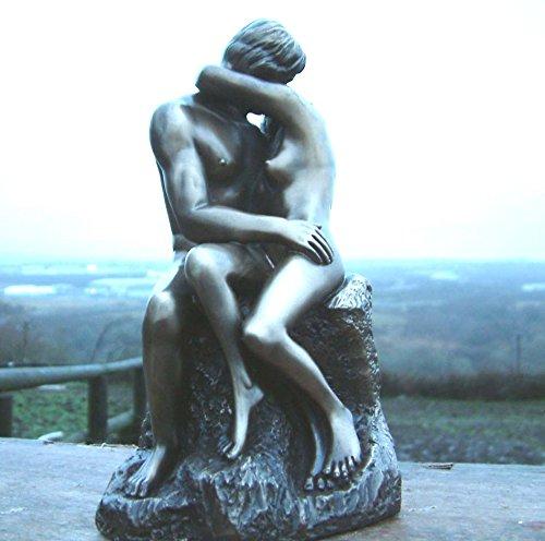 """Auguste Rodin Figur / Skulptur """"der Kuss"""" (ideal geeignet als Hochzeitstagsgeschenk), aus Bronze"""